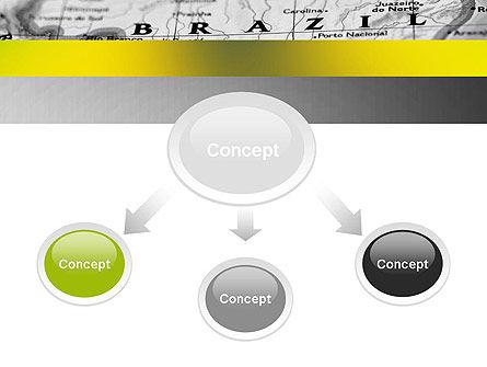 Map of Brazil PowerPoint Template, Slide 4, 12168, Flags/International — PoweredTemplate.com