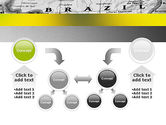 Map of Brazil PowerPoint Template#19