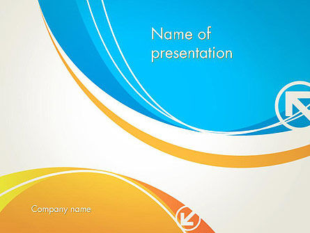 Abstract Opposites PowerPoint Template
