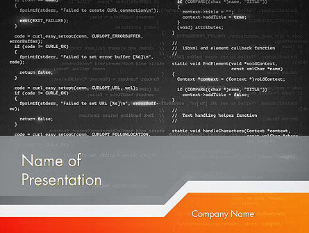 Technology and Science: Source Code PowerPoint Template #12172