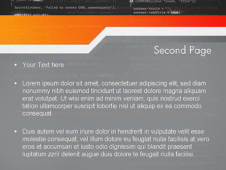 Source Code PowerPoint Template, Slide 2, 12172, Technology and Science — PoweredTemplate.com