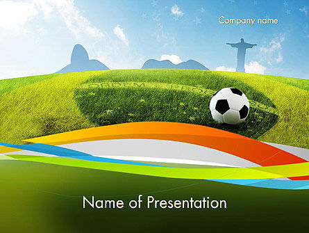 Destination Brazil PowerPoint Template, 12173, Flags/International — PoweredTemplate.com