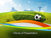 Flags/International: Bestemming Brazilië PowerPoint Template #12173