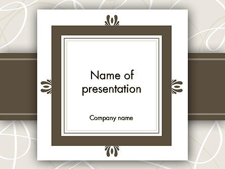 Abstract/Textures: Brown Frame PowerPoint Template #12174