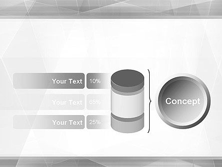 Grey Abstract Geometric PowerPoint Template Slide 11