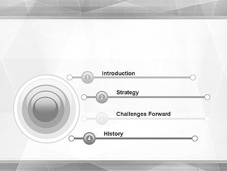 Grey Abstract Geometric PowerPoint Template, Slide 3, 12176, Abstract/Textures — PoweredTemplate.com