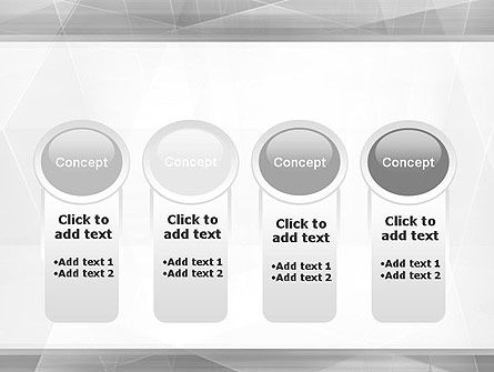 Grey Abstract Geometric PowerPoint Template Slide 5