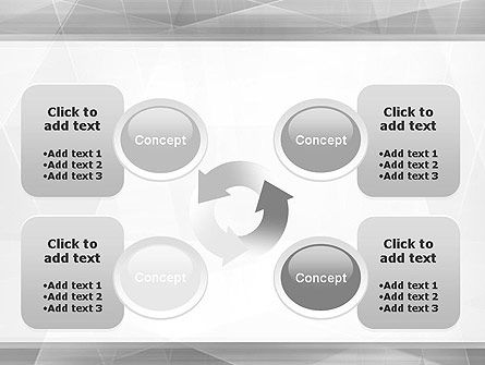 Grey Abstract Geometric PowerPoint Template Slide 9