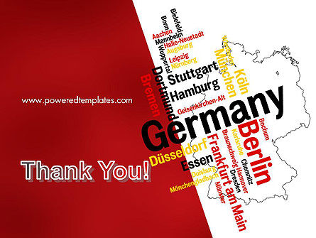 Germany Map and Cities Word Cloud PowerPoint Template Slide 20