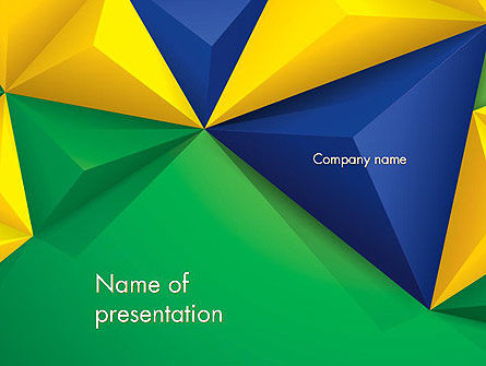 Abstract Geometric Triangles PowerPoint Template
