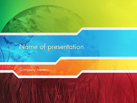 Pied Planet PowerPoint Template, 12180, Global — PoweredTemplate.com