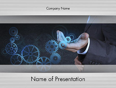 Business Concepts: Business Machine Concept PowerPoint Template #12181