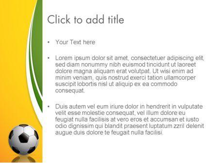 Soccer Theme PowerPoint Template, Slide 3, 12182, Sports — PoweredTemplate.com
