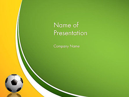 Soccer Theme Powerpoint Template, Backgrounds | 12182