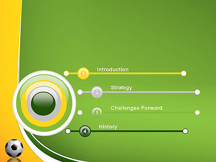 Soccer Theme PowerPoint Template, Slide 3, 12182, Sports — PoweredTemplate.com