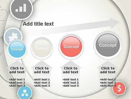 Circles and Icons PowerPoint Template Slide 13