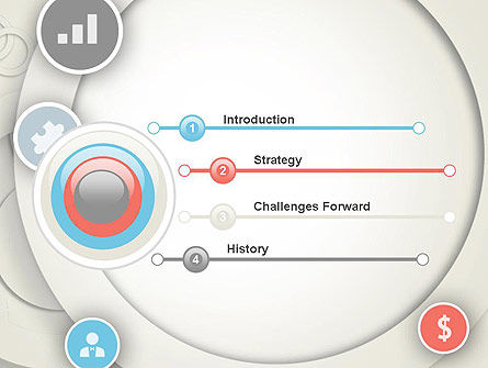 Circles and Icons PowerPoint Template, Slide 3, 12184, Business — PoweredTemplate.com