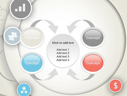 Circles and Icons PowerPoint Template Slide 6