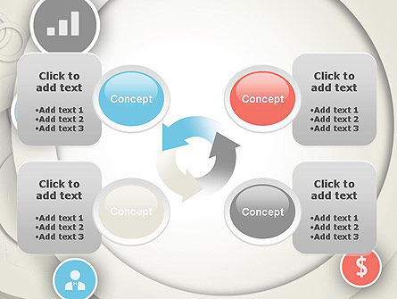 Circles and Icons PowerPoint Template Slide 9