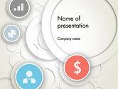 Business: 円とアイコン - PowerPointテンプレート #12184
