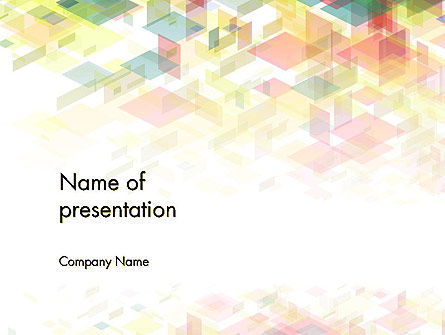Abstract Particle Mask PowerPoint Template