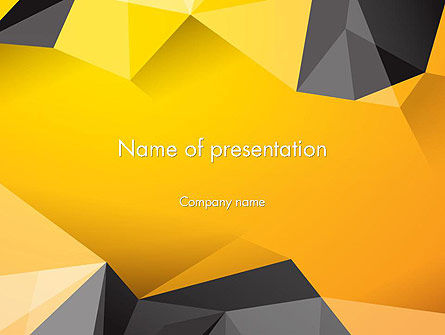 Abstract/Textures: Polygonal PowerPoint Template #12187
