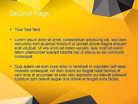 Polygonal PowerPoint Template, Slide 2, 12187, Abstract/Textures — PoweredTemplate.com