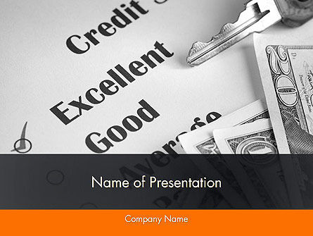Credit Score PowerPoint Template, 12188, Financial/Accounting — PoweredTemplate.com