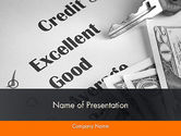 Financial/Accounting: Credit Score PowerPoint Template #12188