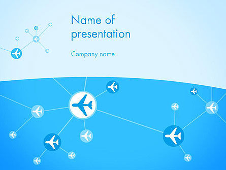 Cars and Transportation: Airlines Theme PowerPoint Template #12189