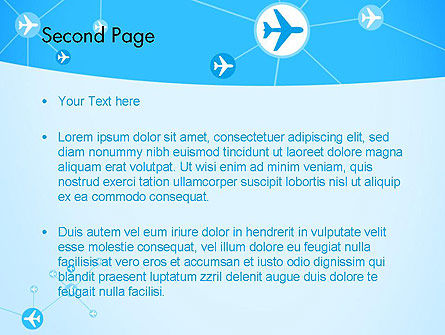 Airlines Theme PowerPoint Template Slide 2
