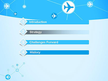 Airlines Theme PowerPoint Template, Slide 3, 12189, Cars and Transportation — PoweredTemplate.com