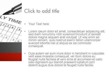 Time Tracking Sheet PowerPoint Template, Slide 3, 12194, Business — PoweredTemplate.com