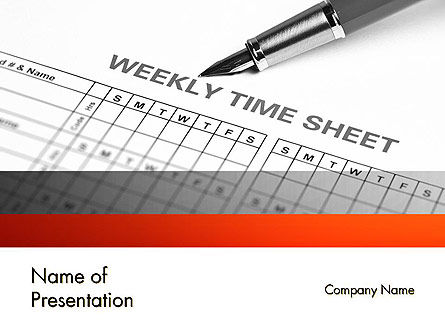 Time Tracking Sheet PowerPoint Template