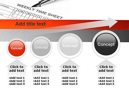 Time Tracking Sheet PowerPoint Template Slide 13