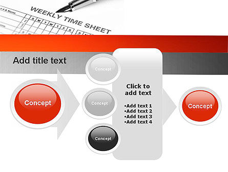 Time Tracking Sheet PowerPoint Template Slide 17