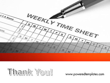 Time Tracking Sheet PowerPoint Template Slide 20