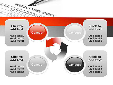 Time Tracking Sheet PowerPoint Template Slide 9