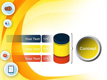 Flat Icons on Yellow PowerPoint Template Slide 11
