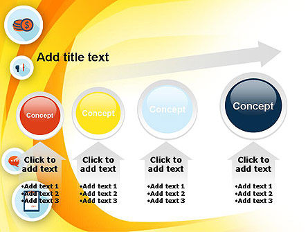 Flat Icons on Yellow PowerPoint Template Slide 13
