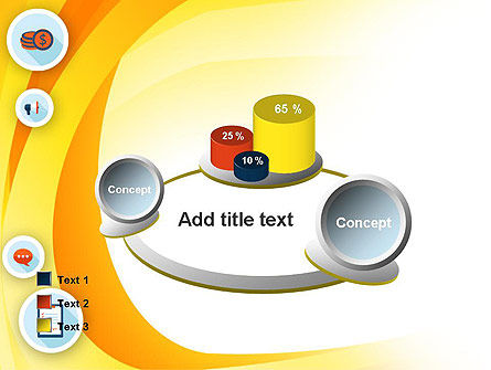 Flat Icons on Yellow PowerPoint Template Slide 16