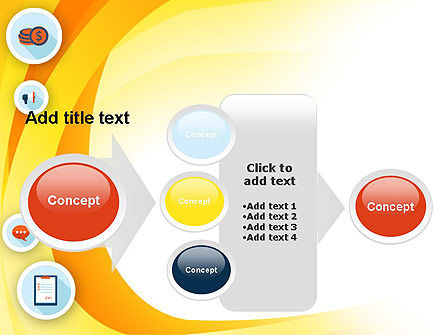 Flat Icons on Yellow PowerPoint Template Slide 17