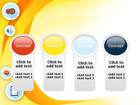 Flat Icons on Yellow PowerPoint Template Slide 5