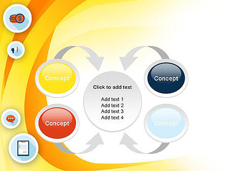 Flat Icons on Yellow PowerPoint Template Slide 6
