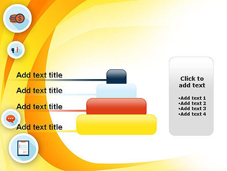Flat Icons on Yellow PowerPoint Template Slide 8