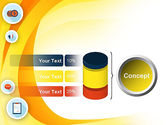 Flat Icons on Yellow PowerPoint Template#11