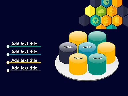 Hexagons with Icons PowerPoint Template Slide 12