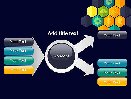 Hexagons with Icons PowerPoint Template Slide 15