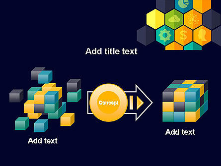 Hexagons with Icons PowerPoint Template Slide 17