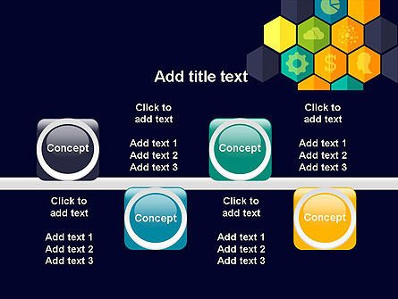 Hexagons with Icons PowerPoint Template Slide 18
